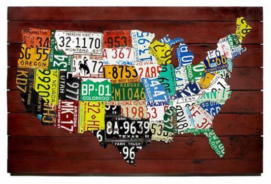 US License Plate Map