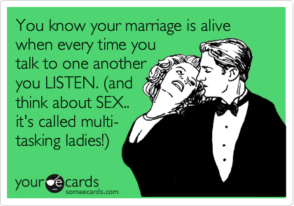 Multi-tasking sex